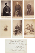 Photography:CDVs, Union Generals: Group of Six Cartes de Visite and One Clipped Signature.... (Total: 7 )