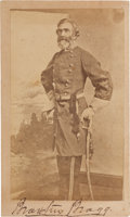 Photography:CDVs, Confederate General Braxton Bragg Signed Carte de Visite....