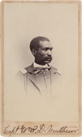 Photography:CDVs, Black Union Officer Captain William D. Matthews Carte de Visite....