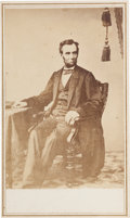 Photography:CDVs, Abraham Lincoln Carte de Visite from a Photograph by Alexander Gardner....