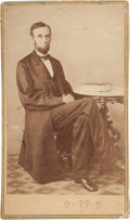 Photography:CDVs, Alexander Gardner Carte de Visite of Abraham Lincoln....
