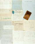 Books:World History, [Business] Large Group of Victorian-Era Mortgage and Loan Postcards, Balance Sheets and Receipts. Large variety of businesse...
