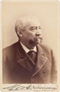Photography:Cabinet Photos, Union General Philip Henry Sheridan Twice-Signed Cabinet Card....