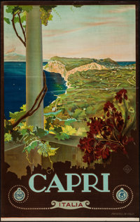 """Capri Travel Poster (ENIT, Late 1920s - Early 1930s). Travel Poster (25.25"""" X 40.5""""). Miscellaneous"""