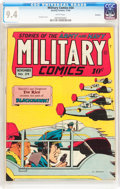 Golden Age (1938-1955):War, Military Comics #34 Rockford pedigree (Quality, 1944) CGC NM 9.4White pages....