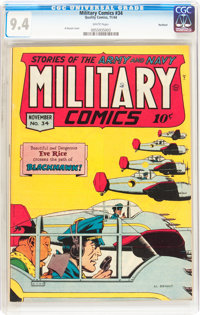 Military Comics #34 Rockford pedigree (Quality, 1944) CGC NM 9.4 White pages
