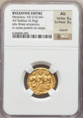 Ancients:Byzantine, Ancients: Heraclius (AD 610-641). AV solidus (4.36 gm)....