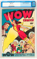 Golden Age (1938-1955):Superhero, Wow Comics #33 Mile High pedigree (Fawcett Publications, 1945) CGC NM- 9.2 Off-white to white pages....
