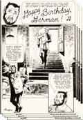 """Original Comic Art:Complete Story, Adolfo Buylla House of Secrets #98 Complete 8-Page Story""""Happy Birthday, Herman!"""" Original Art (DC, 1972).... (Total: 8Original Art)"""