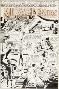 """Wally Wood Unearthly Spectaculars #2 """"Miracles, Inc."""" Splash Page 1 Original Art (Harvey, 1966)"""