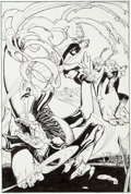Original Comic Art:Splash Pages, Carl Potts Marvel Fanfare #20 Page 33 Power Pack PinupOriginal Art (Marvel, 1982)....
