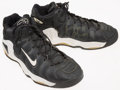 Basketball Collectibles:Others, 1990's Greg Minor Game Worn Shoes. ...