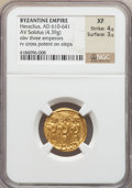 Ancients:Byzantine, Ancients: Heraclius (AD 610-641). AV solidus (4.39 gm)....