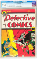 Golden Age (1938-1955):Superhero, Detective Comics #53 (DC, 1941) CGC NM 9.4 Off-white to white pages....