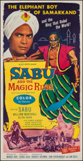 "Movie Posters:Adventure, Sabu and the Magic Ring (Allied Artists, 1957). Three Sheet (41"" X79.5""). Adventure.. ..."