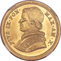 Italy:Papal States, Italy: Papal States. Pius IX gold 2-1/2 Scudi 1856-R Anno X MS65NGC,...