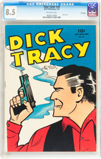 Four Color #34 Dick Tracy - File Copy (Dell, 1944) CGC VF+ 8.5 Off-white pages