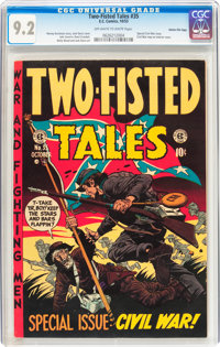 Two-Fisted Tales #35 Gaines File pedigree 5/11 (EC, 1953) CGC NM- 9.2 Off-white to white pages