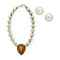 Estate Jewelry:Suites, Citrine, Sterling Silver Jewelry Suite. ...