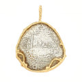 Estate Jewelry:Pendants and Lockets, Ancient Silver Coin, Gold Pendant. ...