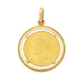 Estate Jewelry:Pendants and Lockets, Gold Coin Pendant. ...