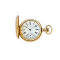 Timepieces:Pocket (post 1900), Waltham 14k Gold Hunter's Case Pocket Watch. ...