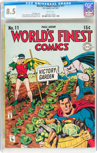 World's Finest Comics #11 (DC, 1943) CGC VF+ 8.5 White pages