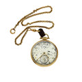 Timepieces:Pocket (post 1900), Lord Elgin 14k Gold Open Face Pocket Watch. ...