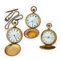 Timepieces:Pocket (post 1900), Three Hunter Case Pocket Watches For Parts Or Repair. ... (Total: 3Items)