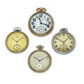 Timepieces:Pocket (post 1900), Four Pocket Watches For Parts Or Repair. ... (Total: 4 Items)