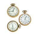 Timepieces:Pocket (post 1900), Two Waltham's & One Hamilton Open Face Pocket Watches. ...(Total: 3 Items)