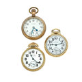 Timepieces:Pocket (post 1900), Waltham & Two Hamilton Railway Special Pocket Watches Runners.... (Total: 3 Items)