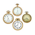 Timepieces:Pocket (post 1900), A Lot Of Four Elgin Pocket Watches For Parts Or Repair. ... (Total:4 Items)