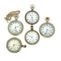 Timepieces:Pocket (post 1900), Five Pocket Watch's For Parts Or Repair. ... (Total: 5 Items)
