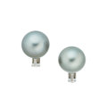 Estate Jewelry:Earrings, Cultured South Sea Pearl, Platinum Earrings. ...