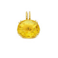 Estate Jewelry:Pendants and Lockets, Synthetic Yellow Beryl, Gold Pendant. ...