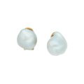 Estate Jewelry:Earrings, Baroque South Sea Cultured Pearl, Gold Earrings. ...