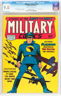Golden Age (1938-1955):War, Military Comics #21 (Quality, 1943) CGC VF/NM 9.0 Off-white towhite pages....