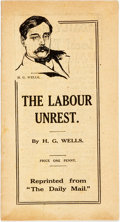 Books:Social Sciences, H. G. Wells. The Labour Unrest. [London: AssociatedNewspapers, 1912]. First edition. ...