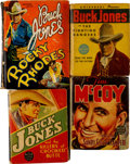 Big Little Book:Miscellaneous, Buck Jones and Other Cowboy Stars Big Little Book Group (Whitman,1934-39) Condition: Average VG/FN.... (Total: 7 Comic Books)