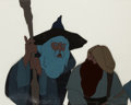 Animation Art:Production Cel, The Lord of the Rings Gandalf and Gimli Production CelSetup(Bakshi/United Artists, 1978)....