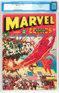 Golden Age (1938-1955):Superhero, Marvel Mystery Comics #48 Rockford pedigree (Timely, 1943) CGC NM- 9.2 Cream to off-white pages....