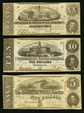 Confederate Notes:1863 Issues, T58, T59, and T60 1863 Notes.. ... (Total: 3 notes)