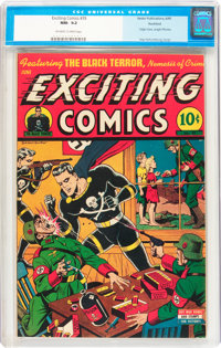 Exciting Comics #39 Rockford pedigree (Nedor/Better/Standard, 1945) CGC NM- 9.2 Off-white to white pages
