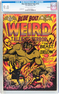 Golden Age (1938-1955):Horror, Blue Bolt #112 Bethlehem pedigree (Star Publications, 1952) CGCVF/NM 9.0 Off-white to white pages....