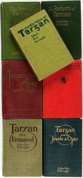 Books:Science Fiction & Fantasy, Edgar Rice Burroughs. Group of Seven First Edition Tarzan Books, One a Second Printing. Chicago: A.C. McClurg & ... (Total: 7 Items)