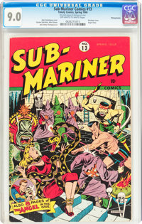 Sub-Mariner Comics #13 Pennsylvania pedigree (Timely, 1944) CGC VF/NM 9.0 Off-white to white pages