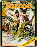 Books:Art & Architecture, Edgar Rice Burroughs and Burne Hogarth. INSCRIBED. Tarzan of the Apes. New York: Watson-Guptill, 1972. First edition...