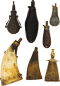 Arms Accessories:Flasks, Large Collection of Powder Flasks, Powder Horns, Shot Bag....