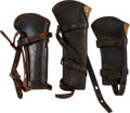 Military & Patriotic:Indian Wars, Lot of Three U.S. Leather Carbine Boot Scabbards.... (Total: 3Items)